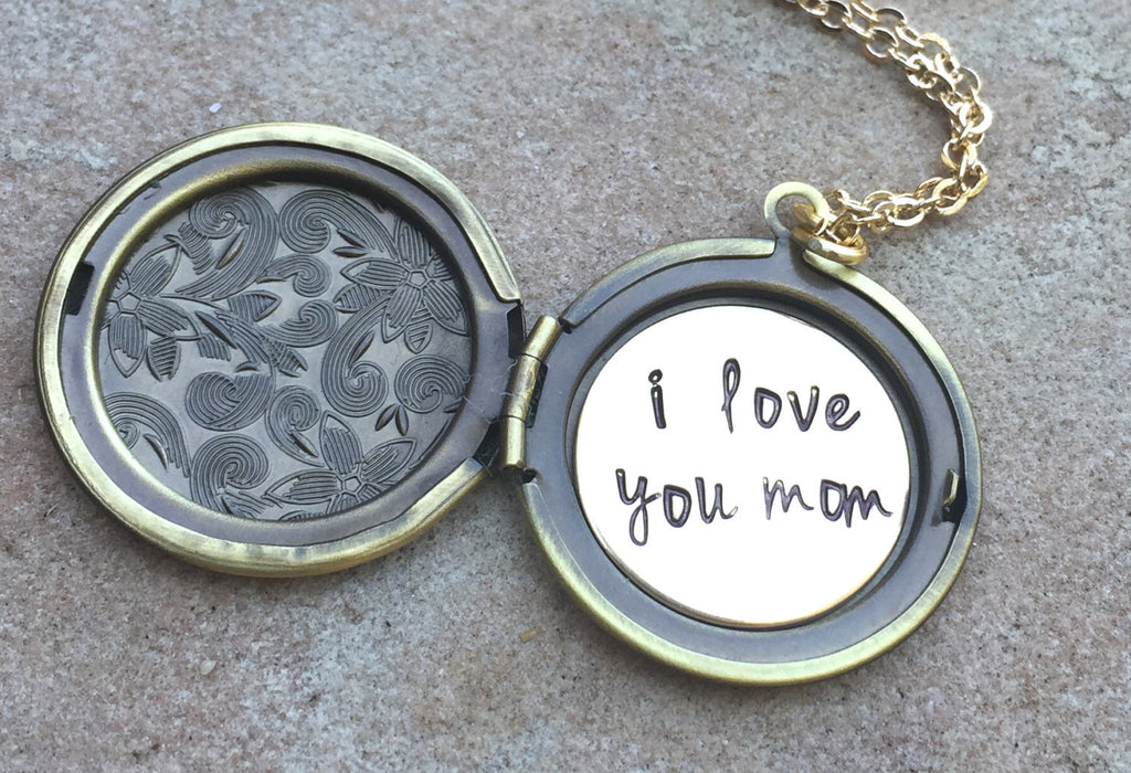 Locket Necklace, Message Locket, Custom Locket, Personalized Locket