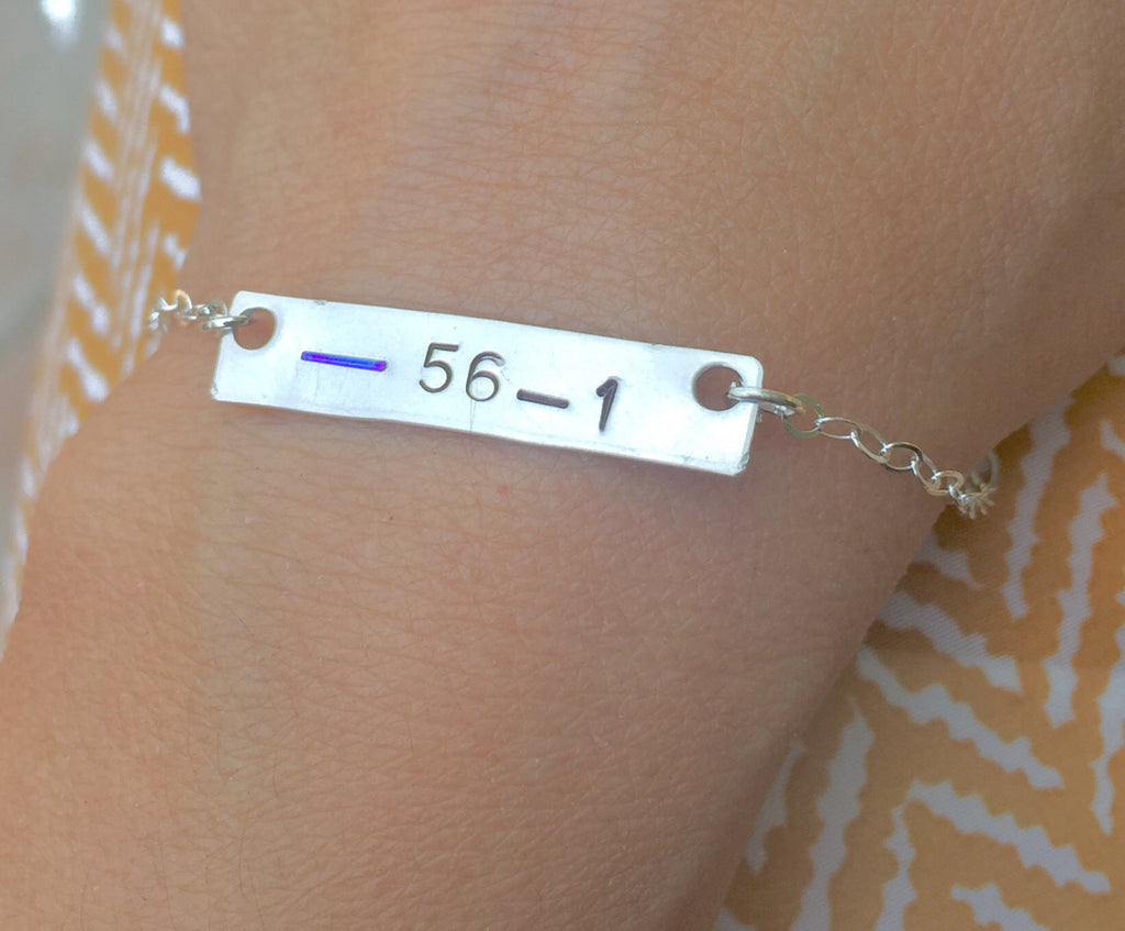 Police Wife Bracelet, Thin Blue Line Jewelry - Natashaaloha, jewelry, bracelets, necklace, keychains, fishing lures, gifts for men, charms, personalized,