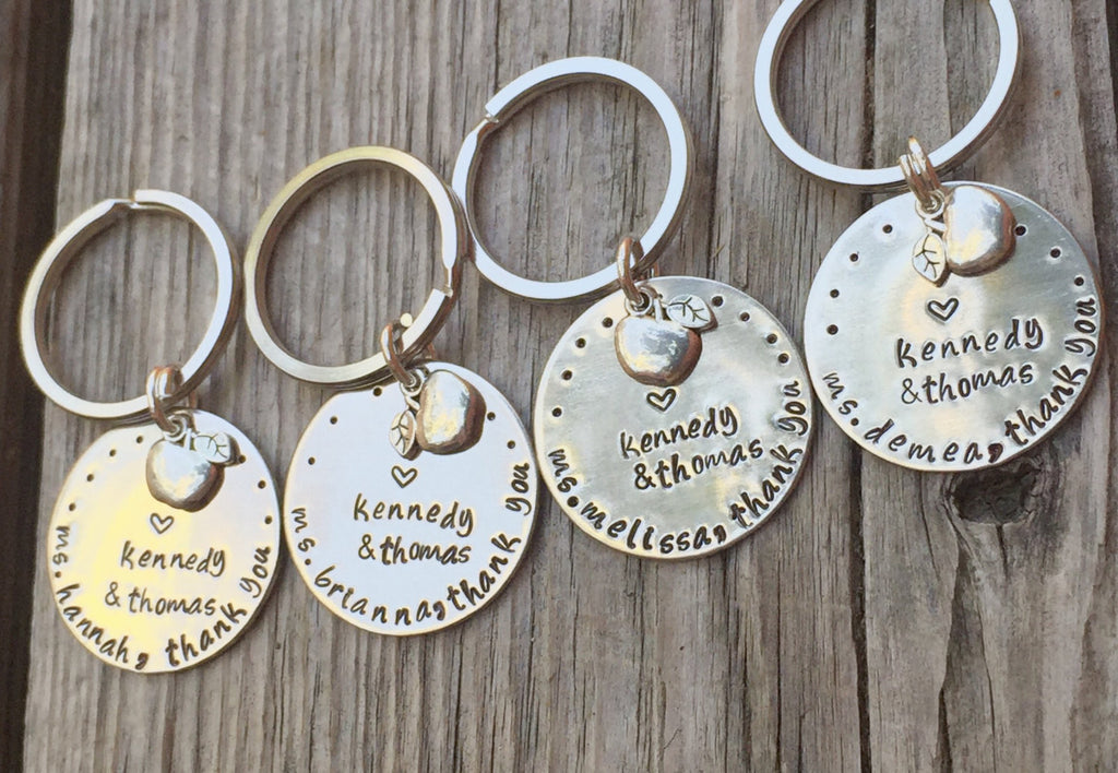 teacher gift, thank you gift, teacher appreciation, teacher keychain, personalized gifts, natashaaloha, gifts - Natashaaloha, jewelry, bracelets, necklace, keychains, fishing lures, gifts for men, charms, personalized,