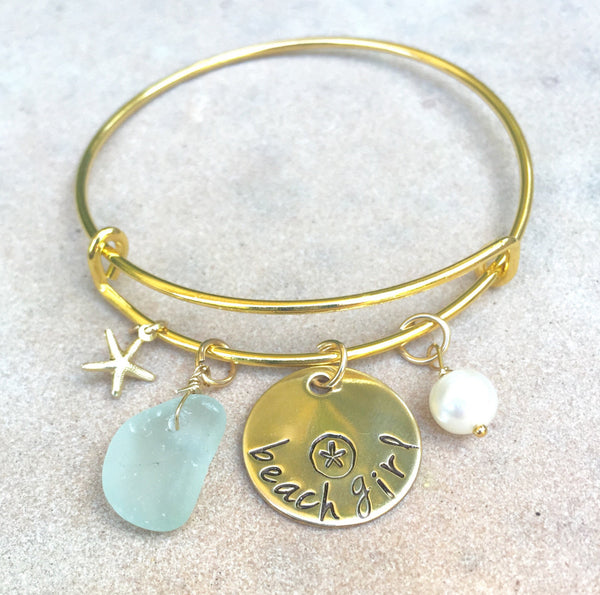 Beach Girl Bangle - Natashaaloha, jewelry, bracelets, necklace, keychains, fishing lures, gifts for men, charms, personalized,