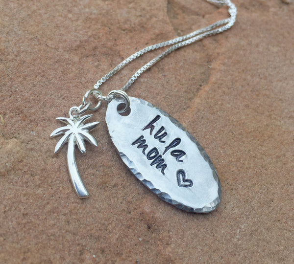 Hula Mom, Aloha Necklace, live aloha, Ohana, Hawaiian necklace, Hawaiian Jewelry, Beach Jewelry, Hula, natashaaloha - Natashaaloha, jewelry, bracelets, necklace, keychains, fishing lures, gifts for men, charms, personalized,