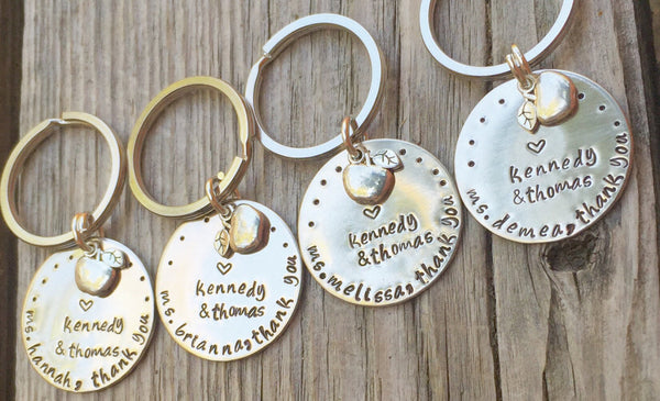 teacher gift, thank you gift, teacher appreciation, teacher keychain, personalized gifts, natashaaloha, gifts