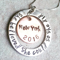 She Believed She Could So She Did Necklace - Natashaaloha, jewelry, bracelets, necklace, keychains, fishing lures, gifts for men, charms, personalized,