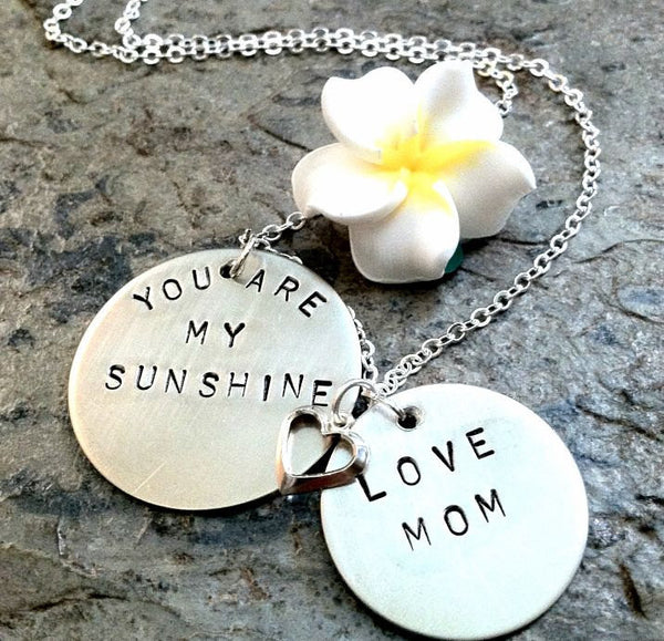 You Are My Sunshine Mother Daughter Necklace