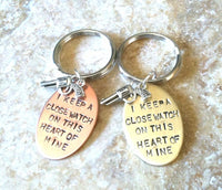 I Keep A Close Watch On This Heart Of Mine, Close Watch Keychain, Johhny Cash Keychain, Keep a Close Watch, gifts for him and her - Natashaaloha, jewelry, bracelets, necklace, keychains, fishing lures, gifts for men, charms, personalized,