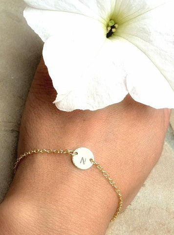 Gold Initial Bracelet - Natashaaloha, jewelry, bracelets, necklace, keychains, fishing lures, gifts for men, charms, personalized,