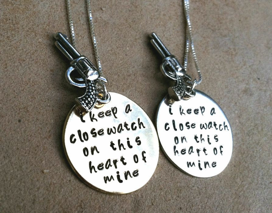 Johnny Cash Jewelry, Johnny Cash Necklace, I Keep A Close Watch, Johnny Cash gold or silver, Personalized Hand Stamped Jewelry - Natashaaloha, jewelry, bracelets, necklace, keychains, fishing lures, gifts for men, charms, personalized,