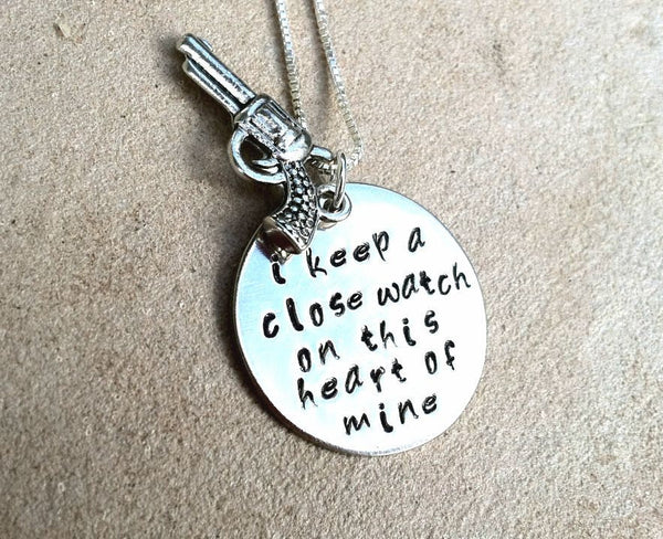 Johnny Cash Necklace, I Keep A Close Watch, Natashaaloha