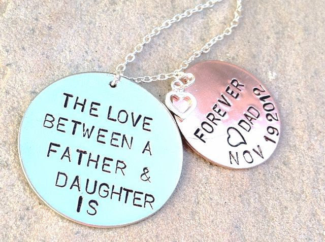 the love between a father and daughter is forever,Valentine Gift, gifts from dad, gifts to daughter,gifts for her, personalized,natashaaloha - Natashaaloha, jewelry, bracelets, necklace, keychains, fishing lures, gifts for men, charms, personalized,