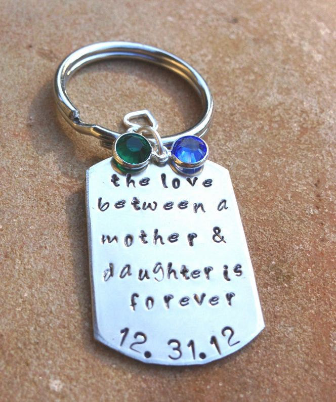 mother daughter gifts, love between a mother and daughter is forever, personalized key chains, her - Natashaaloha, jewelry, bracelets, necklace, keychains, fishing lures, gifts for men, charms, personalized,