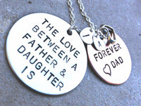 The Love Between A Father and Daughter is Forever, Daughter Gift, Father Daughter Necklace, Personalized from dad, Custom Father Daught - Natashaaloha, jewelry, bracelets, necklace, keychains, fishing lures, gifts for men, charms, personalized,
