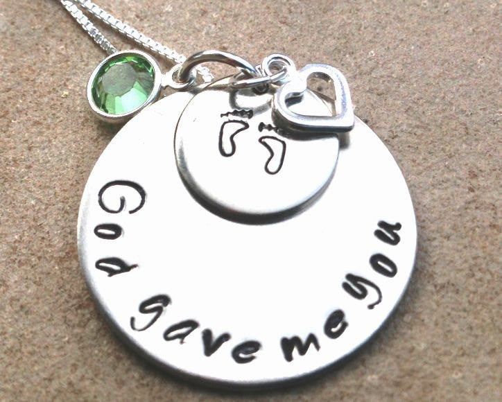 God Gave Me You Necklace, Personalized - Natashaaloha, jewelry, bracelets, necklace, keychains, fishing lures, gifts for men, charms, personalized,