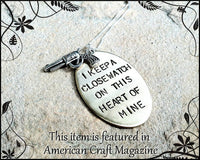 I Keep A Close Watch On This Heart Of Mine Necklace - Natashaaloha, jewelry, bracelets, necklace, keychains, fishing lures, gifts for men, charms, personalized,