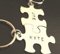 Personalized Puzzle Name Keychain, His and Hers Keychains - Natashaaloha, jewelry, bracelets, necklace, keychains, fishing lures, gifts for men, charms, personalized,