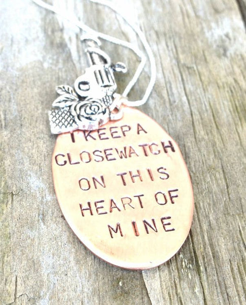 I Keep A Close Watch On This Heart Of Mine, Mother's Day Gifts, walk the line,Close Watch, This Heart of Mine, Johny Cash Necklace - Natashaaloha, jewelry, bracelets, necklace, keychains, fishing lures, gifts for men, charms, personalized,