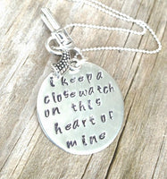 Johnny Cash Jewelry, Johnny Cash Necklace, I Keep A Close Watch, Johnny Cash gold or silver, valentine gifts - Natashaaloha, jewelry, bracelets, necklace, keychains, fishing lures, gifts for men, charms, personalized,