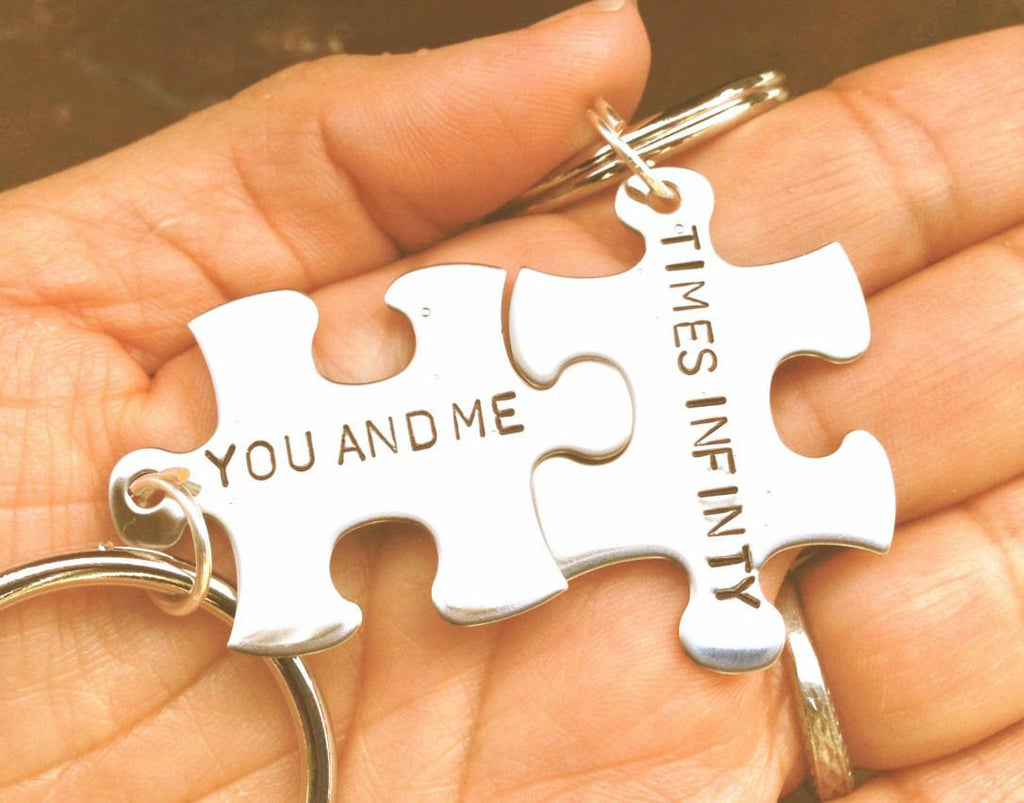 His and Hers Keychain, Couples Custom Keychains