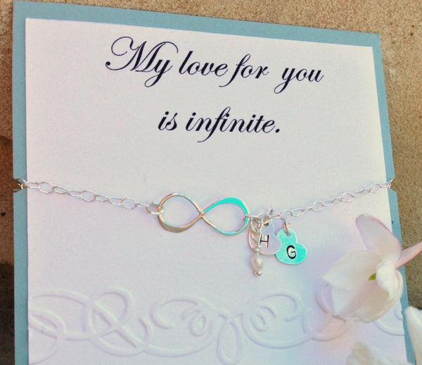 Infinity bracelet,will you be my maid of honor,mother daughter bracelet, best friend bracelet, maid of honor bracelet, sister - Natashaaloha, jewelry, bracelets, necklace, keychains, fishing lures, gifts for men, charms, personalized,