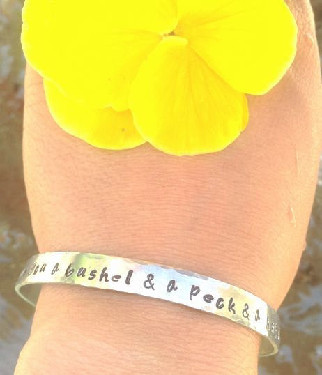 Mother Daughter Jewelry, I Love You A Bushel And A Peck Bracelet