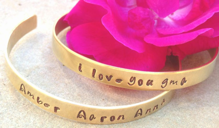 bracelet, cuff, mother daughter bracelets, secret message bracelet, gifts for mom, mothers day, gifs for daughter, personalized jewlery, 2 - Natashaaloha