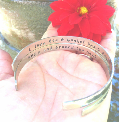 I Love You A Bushel And A Peck Bracelet - Natashaaloha, jewelry, bracelets, necklace, keychains, fishing lures, gifts for men, charms, personalized,