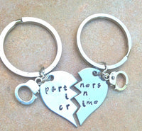 Partners In Crime Keychain, Christmas Gifts Couples, Natashaaloha - Natashaaloha, jewelry, bracelets, necklace, keychains, fishing lures, gifts for men, charms, personalized,