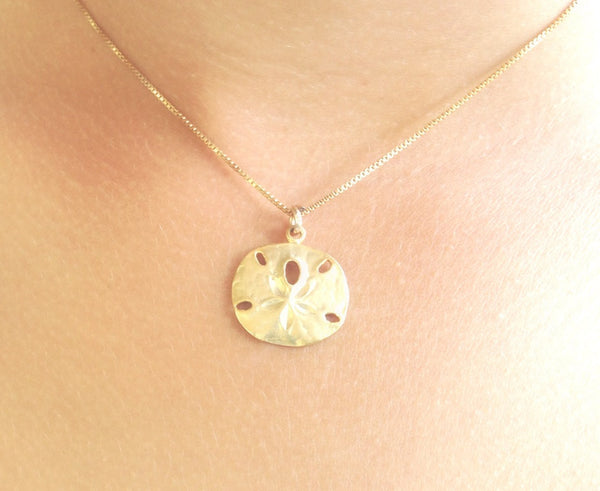 sand dollar necklace, beach necklace, hawaiian jewelry, gold sand dollar, sterling sand dollar, beach wedding, nautical, ocean - Natashaaloha, jewelry, bracelets, necklace, keychains, fishing lures, gifts for men, charms, personalized,