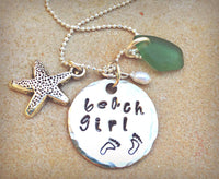 Beach Girl Necklace by Natashaaloha - Natashaaloha, jewelry, bracelets, necklace, keychains, fishing lures, gifts for men, charms, personalized,