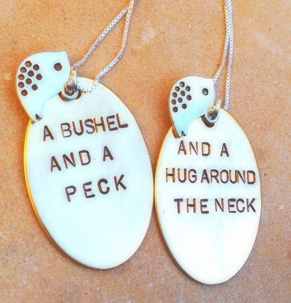 mother daughter necklace, mother daughter gifts, a bushel and a peck a hug around the neck, Mothers Day Gift - Natashaaloha, jewelry, bracelets, necklace, keychains, fishing lures, gifts for men, charms, personalized,