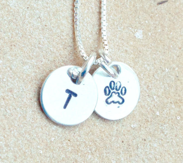 pet necklace, dog necklace, pet initial,  pet remembrance necklace, dog memorial necklace, pet love necklace, personalized pet necklace - Natashaaloha, jewelry, bracelets, necklace, keychains, fishing lures, gifts for men, charms, personalized,