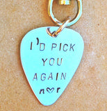 I'd Pick You Again Keychain, I'd Pick You Again Pick - Natashaaloha, jewelry, bracelets, necklace, keychains, fishing lures, gifts for men, charms, personalized,