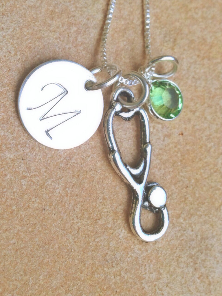 Graduate Necklace, RN necklace, nurse gifts, nurse necklace, stethoscope, personalized necklace, personalized gifts, necklace, natashaaloha - Natashaaloha, jewelry, bracelets, necklace, keychains, fishing lures, gifts for men, charms, personalized,