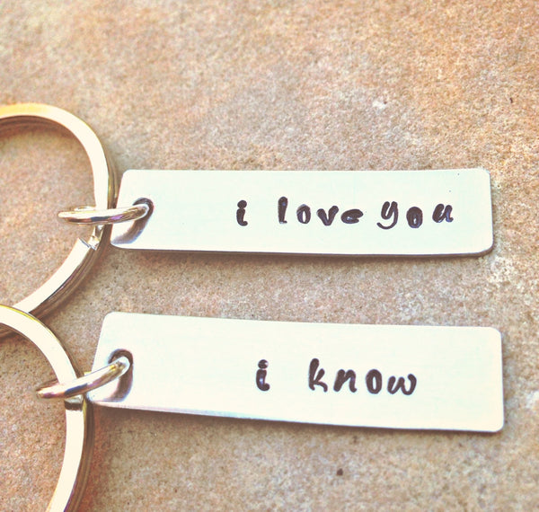 I Love You I know Keychains, Personalized Keychains - Natashaaloha, jewelry, bracelets, necklace, keychains, fishing lures, gifts for men, charms, personalized,