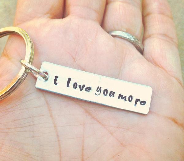 I Love You More Keychain - Natashaaloha, jewelry, bracelets, necklace, keychains, fishing lures, gifts for men, charms, personalized,