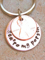 You're My Person Penny Keychain - Natashaaloha, jewelry, bracelets, necklace, keychains, fishing lures, gifts for men, charms, personalized,