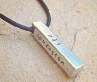 Men's Bar Necklace, Christmas Gifts For Dad, Personalized Dad Necklace - Natashaaloha, jewelry, bracelets, necklace, keychains, fishing lures, gifts for men, charms, personalized,
