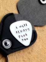 Personalized Pick with your message, Husband Gift, Fathers Day Gift,  Boyfriend Gift, Custom Pick,Personalized Guitar Pick, natashaaloha - Natashaaloha, jewelry, bracelets, necklace, keychains, fishing lures, gifts for men, charms, personalized,