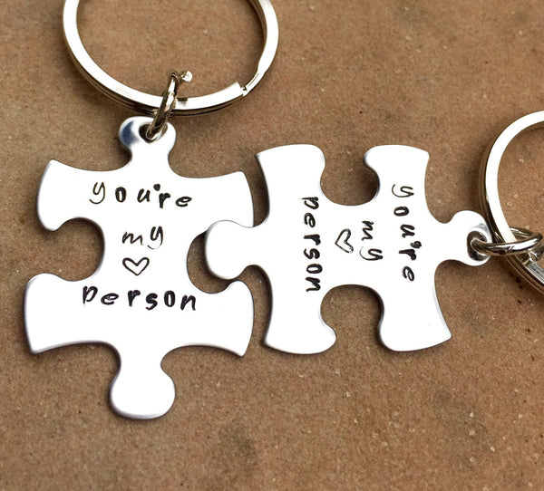 You're My Person Keychain, Grey's Anatomy Keychain - Natashaaloha, jewelry, bracelets, necklace, keychains, fishing lures, gifts for men, charms, personalized,
