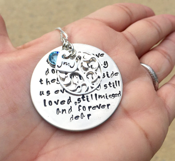 memorial necklace, rememberance necklace, natashaaloha, tree of life necklace, lyrics necklace, memorial quote necklace, hand stamped - Natashaaloha, jewelry, bracelets, necklace, keychains, fishing lures, gifts for men, charms, personalized,