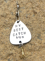 Personalized Fishing Lure, Fishing Lures - Natashaaloha, jewelry, bracelets, necklace, keychains, fishing lures, gifts for men, charms, personalized,