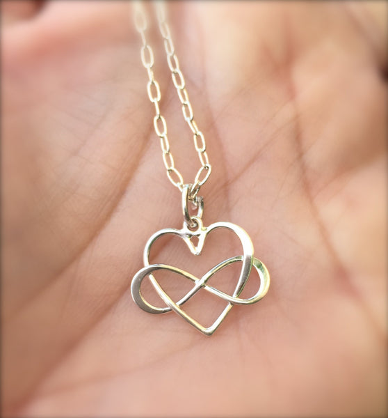 Mom Necklace, Heart Infinity Necklace, Best Friend Necklace, Sister Necklace, Bridesmaid Necklace, natashaaloha - Natashaaloha, jewelry, bracelets, necklace, keychains, fishing lures, gifts for men, charms, personalized,