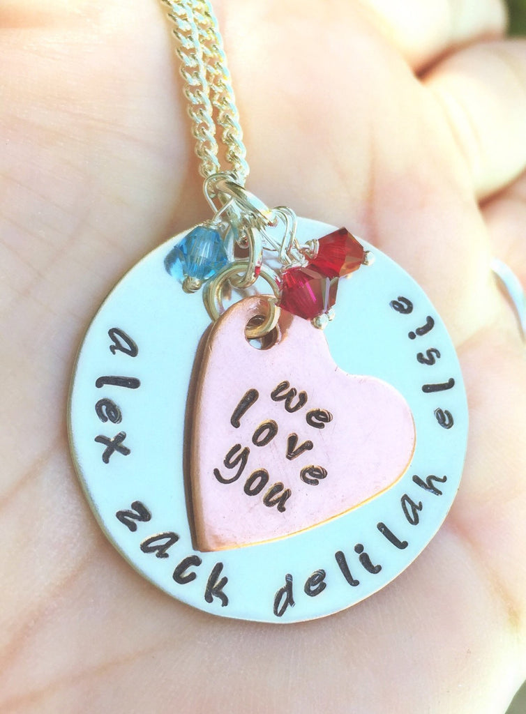 Personalized Mom Necklace, Personalized Grandma Necklace - Natashaaloha, jewelry, bracelets, necklace, keychains, fishing lures, gifts for men, charms, personalized,
