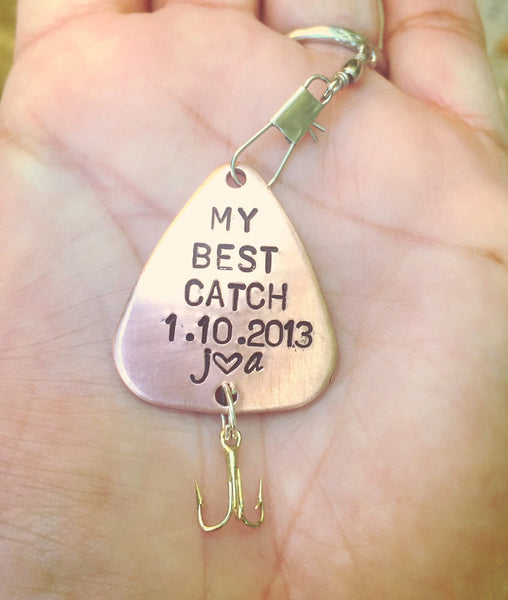 Father's Day Gift, Fishing Lure, Boyfriend Gift, Hooked On You, My Best Catch, Personalized Fishing Lure,natashaaloha - Natashaaloha, jewelry, bracelets, necklace, keychains, fishing lures, gifts for men, charms, personalized,