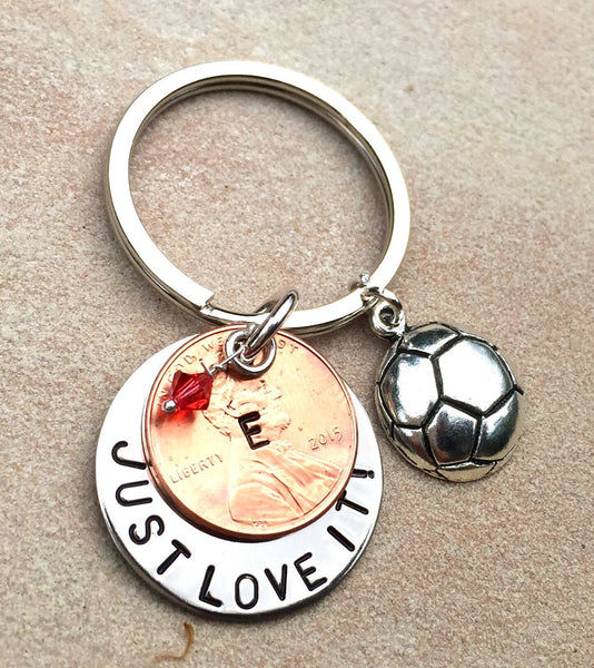 Sport Keychains, Graduation Gifts, Coach Keychains, Hand Stamped Sports Keychain with Your Message, Custom Keychains, Grad Gifts - Natashaaloha, jewelry, bracelets, necklace, keychains, fishing lures, gifts for men, charms, personalized,