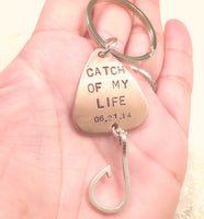 Fishing Keychain, Gifts for Husbands, Gifts For Boyfriends - Natashaaloha, jewelry, bracelets, necklace, keychains, fishing lures, gifts for men, charms, personalized,