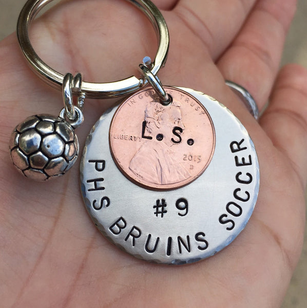 High School Gifts, Christmas Gift, High School Sports Keychain, Volleyball Keychain, Personalized High School Sport Keychain, Football - Natashaaloha, jewelry, bracelets, necklace, keychains, fishing lures, gifts for men, charms, personalized,