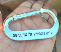 Personalized Carabiner, Carabiner, Hand Stamped Carabiner Featured In US Weekly - Natashaaloha, jewelry, bracelets, necklace, keychains, fishing lures, gifts for men, charms, personalized,