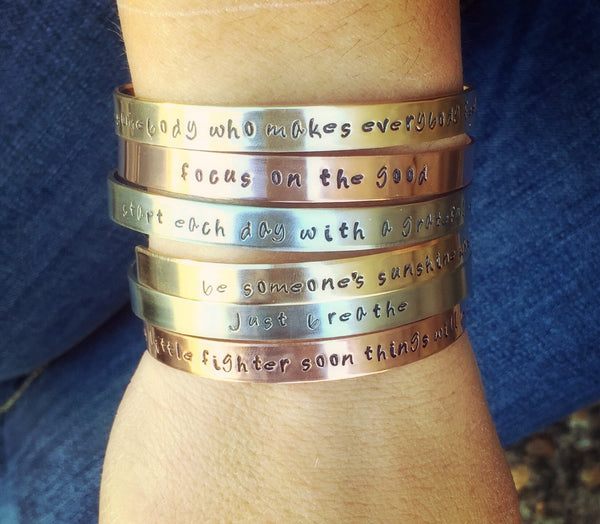 Inspirational Cuff Bracelets, Personalized - Natashaaloha, jewelry, bracelets, necklace, keychains, fishing lures, gifts for men, charms, personalized,