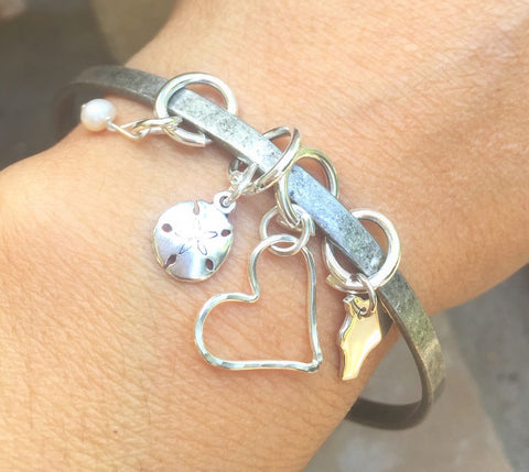 Hawaiian Beach Bangle - Natashaaloha, jewelry, bracelets, necklace, keychains, fishing lures, gifts for men, charms, personalized,