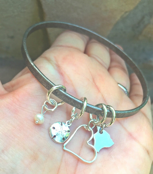 Hawaiian Bangle, Hawaiian Jewelry, Personalized Bangle Bracelets , Beach Bangle, Island Bangle, Hawaii Jewelry, natashaaloha - Natashaaloha, jewelry, bracelets, necklace, keychains, fishing lures, gifts for men, charms, personalized,
